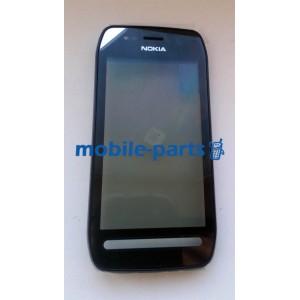 Оригинальная передняя панель с сенсорным экраном для Nokia 603 черная (0089W24)