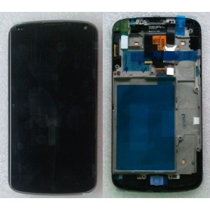 Дисплей с сенсорным экраном для LG Google Nexus 4 E960 black оригинал