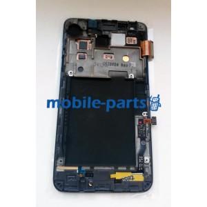 Дисплей в сборе с сенсорным экраном для Samsung I9105 Galaxy S II Plus синий оригинал