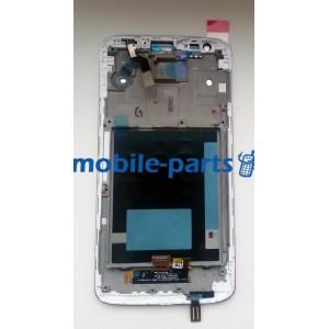 Дисплей в сборе с сенсорным стеклом (тачскрином) LG G2 D802 белый оригинал
