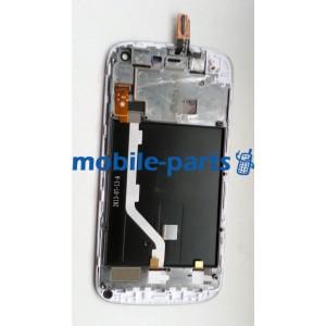 Дисплей в сборе c сенсорным экраном(тачскрином) и передней панелью для Fly IQ4410 Quad Phoenix серый оригинал