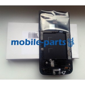 Дисплей в сборе с тачскрином для Samsung I9152 Galaxy Mega 5.8 черный оригинал