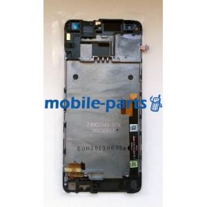 Дисплей с тачскрином для HTC 601n One mini серебро