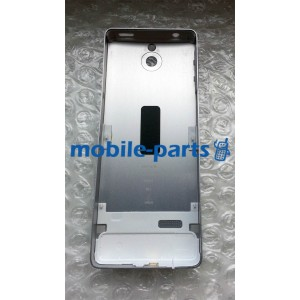 Задняя крышка для Nokia 515 металлическая серебро