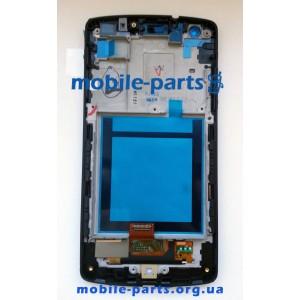 Дисплей в сборе с сенсорным стеклом (тачскрином) LG Google Nexus 5 D821, D820 черный матовый оригинал