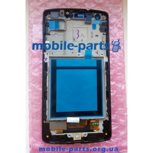 Дисплей в сборе с сенсорным стеклом (тачскрином) LG Google Nexus 5 D821, D820 белый глянцевый оригинал
