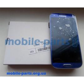 Дисплей в сборе с сенсорным экраном для Samsung I9500 Galaxy S4 синий оригинал