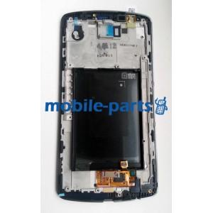 Дисплей (lcd) в сборе с сенсорным стеклом (тачскрином) для LG G3 D855 черный оригинал