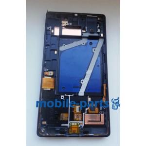Дисплей в сборе с сенсором и передней панелью для Nokia Lumia 930 оригинал