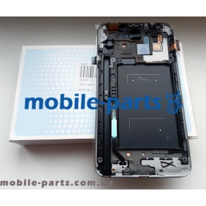 Дисплей в сборе с сенсором(тачскрином) для Samsung N7502 Galaxy Note 3 Neo Duos белый оригинал