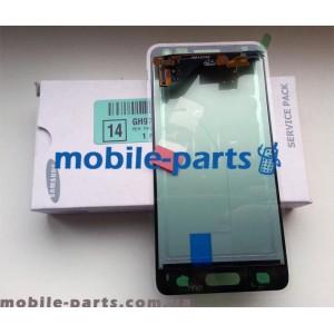 Дисплей в сборе с сенсорным экраном для Samsung G850F Galaxy Alpha черный оригинал