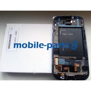 Дисплей в сборе с сенсорм (тачскрином) для Samsung I9300i Galaxy S3 Neo Duos синий оригнал