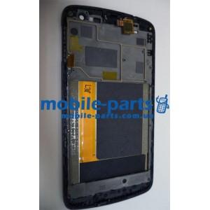 Дисплей с передней панелью и тачскрином для Lenovo S920 черный оригинал