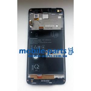 Дисплей в сборе с передней панелью и сенсором (тачскрином) для Lenovo S660 черный оригинал