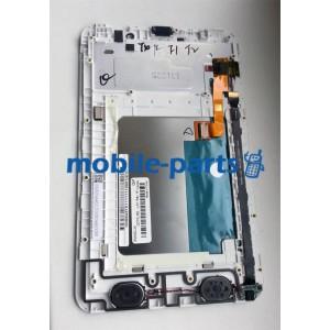 Дисплей в сборе с сенсорным экраном (тачскрином) для Lenovo A3000 IdeaTab белый оригинал