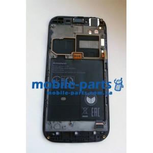 Дисплей с передней панелью и сенсором для Lenovo A706 черный оригинал