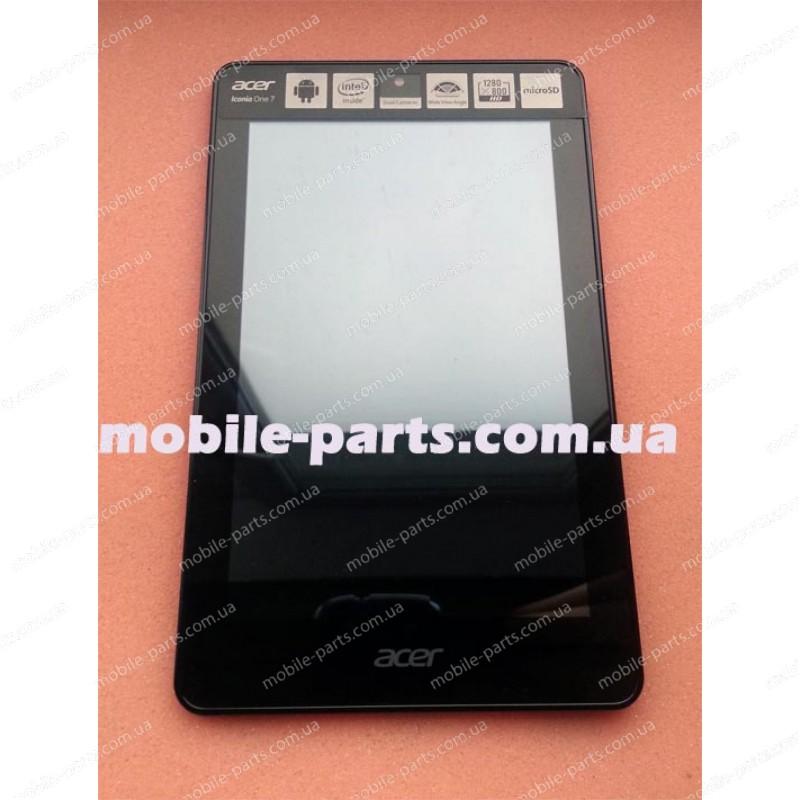 Дисплейный модуль (сборка дисплея и тачскрина) для Acer Iconia One 7 B1-730  8Gb оригинал