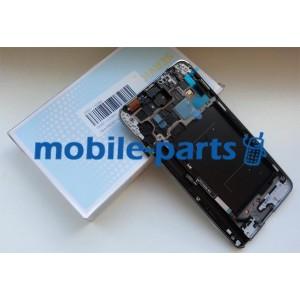 Дисплей в сборе с передней панелью и сенсором для Samsung N9005 Galaxy Note 3 LTE Black