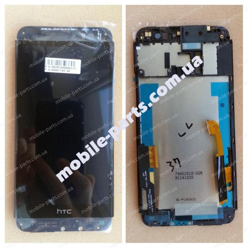 Дисплей в сборе с передней панелью и сенсором(тачскрином) для HTC One E8 dual sim Black оригнал