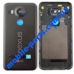 Задняя крышка в сборе со стеклом камеры и антеннами для LG Nexus 5X H791 Black оригинал