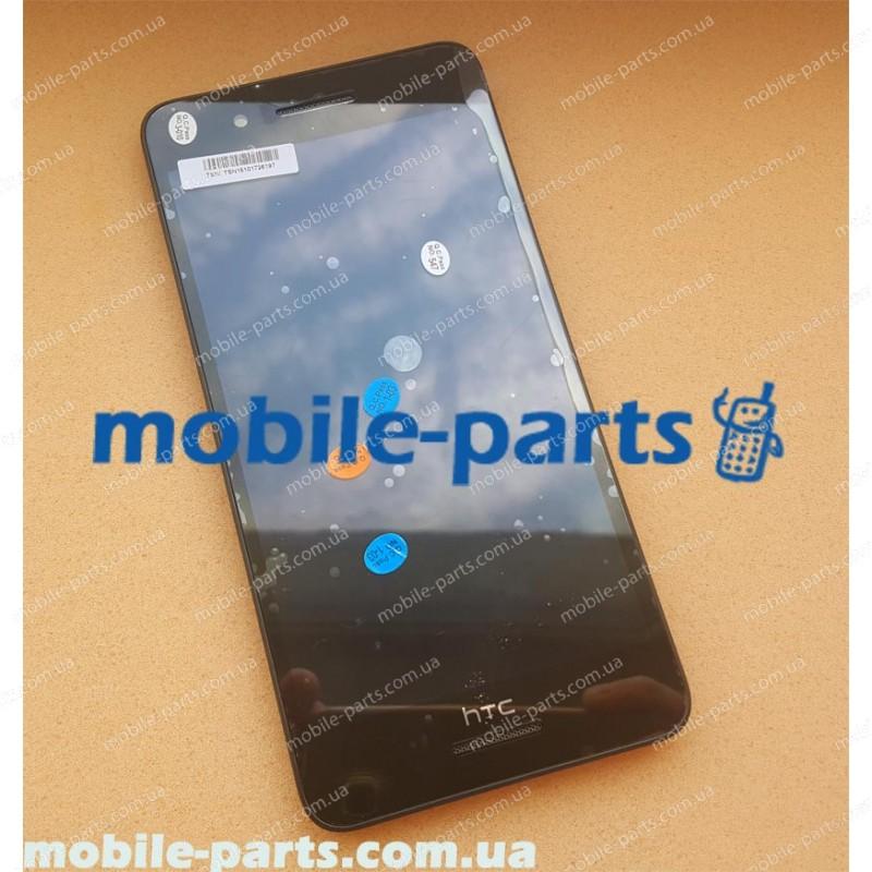 Дисплей (lcd) в сборе с сенсорным стеклом (тачскрином) для HTC Desire 728G Dual Sim Black оригинал