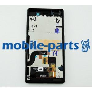 Дисплей в сборе с передней панелью, сенсором и боковыми кнопками для Sony Xperia M5 Dual E5633, Xperia M5E5653, Xperia E5603 Black оригинал