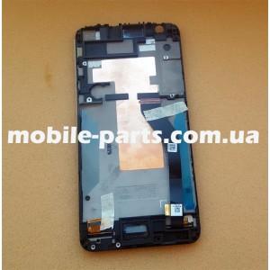 Дисплей в сборе с передней панелью и сенсором для HTC Desire 820G Matt Grey, Glossy White оригинал