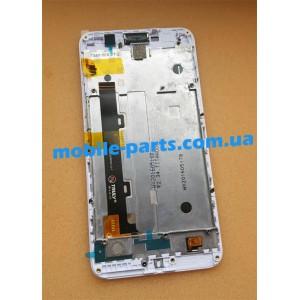 """Оригинальный дисплей IPS 5"""" в сборе с передней панелью и сенсорным стеклом для Huawei Y6 Pro White (TIT-U02)"""