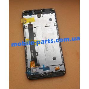 """Оригинальный дисплей IPS 5"""" в сборе с передней панелью и сенсорным стеклом для Huawei Y6 Pro Grey TIT-U02"""