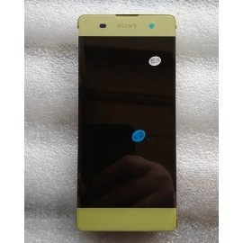 Дисплей в сборе с передней панелью и сенсором для Sony Xperia XA Dual F3112 Lime Gold оригинал