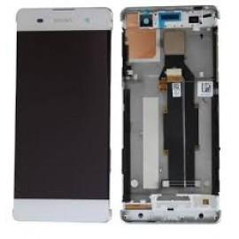 Дисплей в сборе с передней панелью и сенсором для Sony Xperia XA Dual F3112 White оригинал