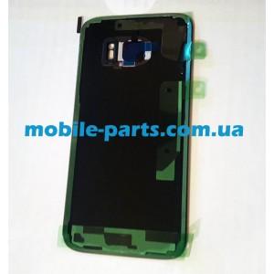 Задняя стеклянная крышка Gorilla Glass для Samsung Galaxy S7 G930FD с надписью Duos оригинал Black