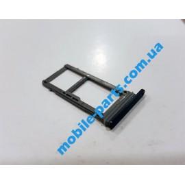 Комбинированный лоток SIM карты и карты памяти для Samsung Galaxy A520 A5 2017, A720 A7 2017 Black оригинал