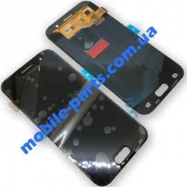 Дисплей Super AMOLED в сборе с сенсорным стеклом (тачскрином) для Samsung Galaxy A3 2017 A320 Black оригинал