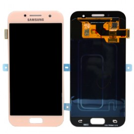 Дисплей Super AMOLED в сборе с сенсорным стеклом (тачскрином) для Samsung Galaxy A3 2017 A320 Pink оригинал