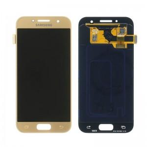 Дисплей Super AMOLED в сборе с сенсорным стеклом (тачскрином) для Samsung Galaxy A3 2017 A320 Gold оригинал