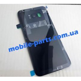 Задняя стеклянная крышка Gorilla Glass для Samsung Galaxy S8 SM-G950 Black оригинал