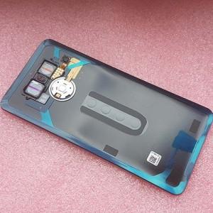 Оригинальная задняя крышка Gorilla Glass в сборе со стеклом камеры, датчиком отпечатка пальцев и двухсторонним скотчем для LG G6 H870DS Platinum