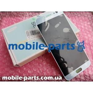 Дисплей Super AMOLED в сборе с сенсорным стеклом (тачскрином) для Samsung Galaxy J7 2017 SM-J730 Silver оригинал