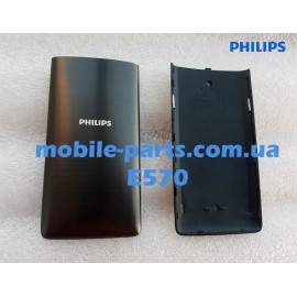 Задняя крышка для Philips Xenium E570 Dual Sim Black оригинал