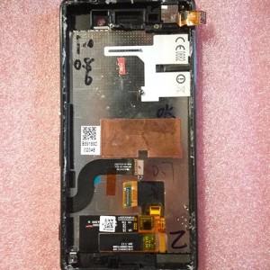 Дисплей в сборе с передней панелью, сенсором и боковыми кнопками для Sony Xperia M5E5653,  Xperia M5 Dual E5633 Black оригинал.
