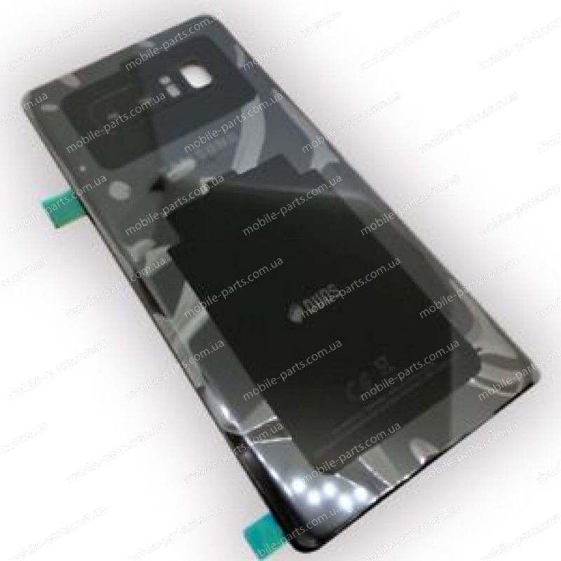 Задняя стеклянная крышка Gorilla Glass для Samsung Galaxy Note 8 SM-N950 Black со скотчем оригинал