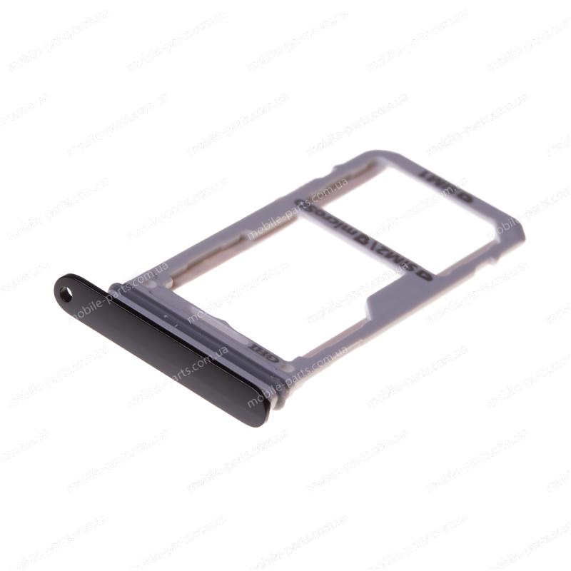 Комбинированный лоток SIM карты и карты памяти для Samsung Galaxy Note 8 SM-N950 Black оригинал