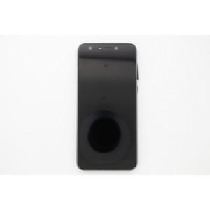 Дисплейный модуль в рамке и с боковыми клавишами для Asus ZenFone 5 Lite ZC600KL Black оригинал
