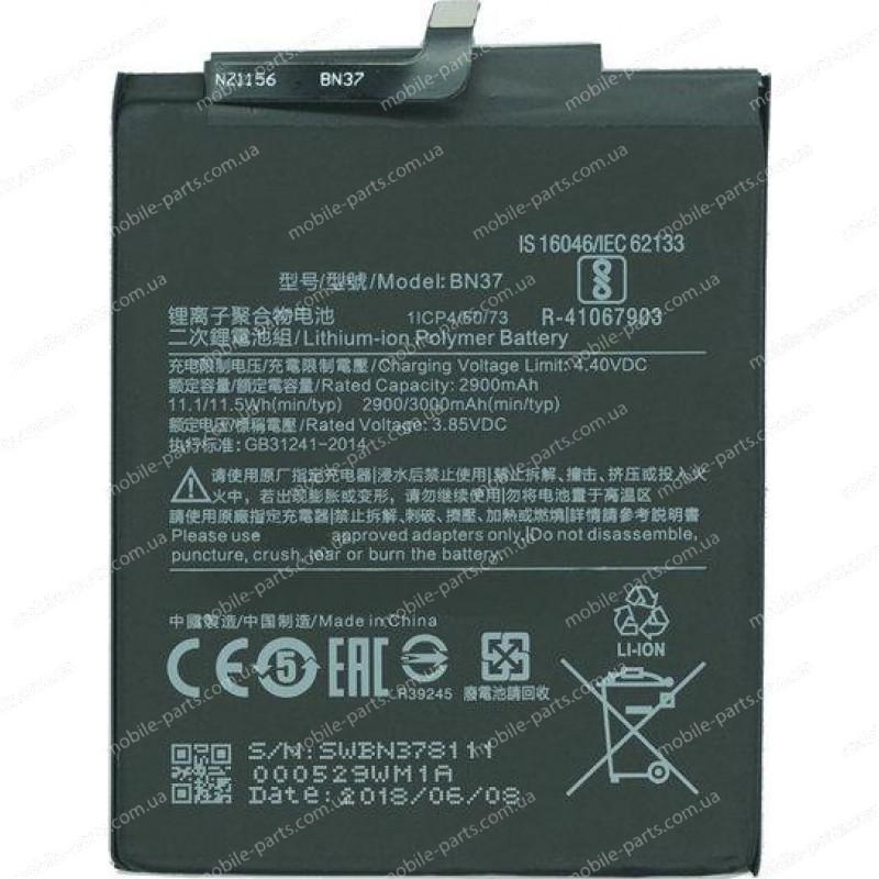 Оригинальный аккумулятор BN37 3000 мАч для Xiaomi Redmi 6, Redmi 6A
