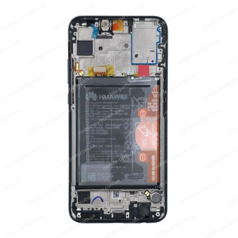 """Оригинальный дисплей 6.21"""" в сборе с сенсором, серединой корпуса и аккумулятором для Huawei P Smart 2019 (POT-LX1) Black"""