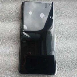 """Оригинальный дисплей 6,1"""" Dynamic AMOLED в сборе с металлической рамкой и сенсором для Samsung SM-G973 Galaxy S10 Black (дисплейный черный, грани серые)"""