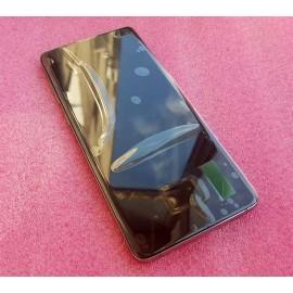 """Оригинальный дисплей 6,4"""" Dynamic AMOLED в сборе с металлической рамкой и сенсором для Samsung SM-G975 Galaxy S10 Plus Prism Black (дисплейный черный, грани серые)"""