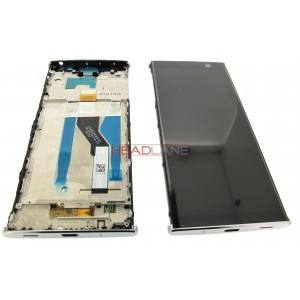 "Дисплей 6.0"" IPS в сборе с металлическим шасси и сенсором для Sony H4413 Xperia XA2 Plus Dual Sim Silver оригинал"