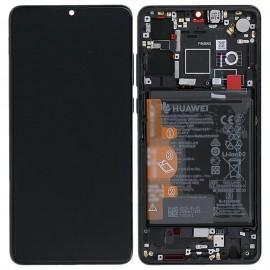 """Оригинальный дисплей 6,1"""" OLED в сборе с металлической рамкой, сенсором и аккумулятором для Huawei P30 (ELE-L29) Black оригинал"""